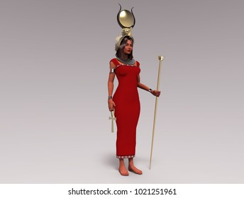 3d illustration of the Egyptian goddess Isis