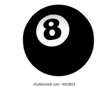 3D Illustration of an eight-ball