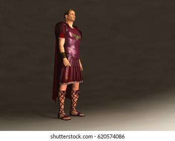 3d illustration of Emperor Julius Caesar