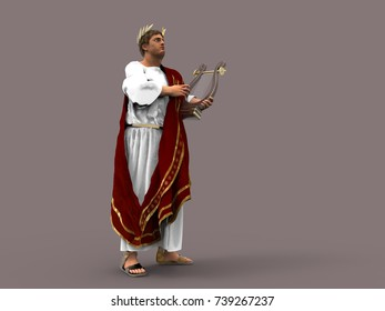 3d illustration of Emperor Nero