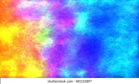 3d illustration of energy and emotion of color. Mystical energy of light and color. Abstract presentation of colors, blurred motion, spilling paint on the surface