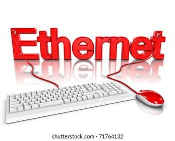 3d illustration of ethernet