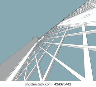 3d illustration, fence