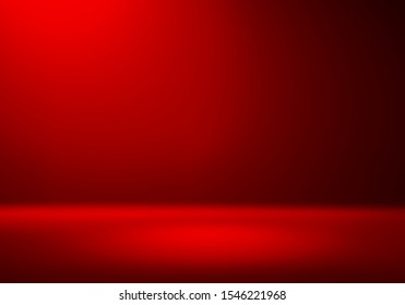 3D Illustration. Festive Red christmas studio gradient background for product placement or website. Copy Space, horizontal composition. - Shutterstock ID 1546221968