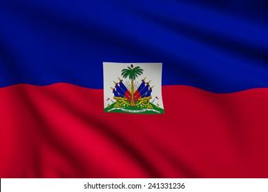 3d illustration flag of Haiti