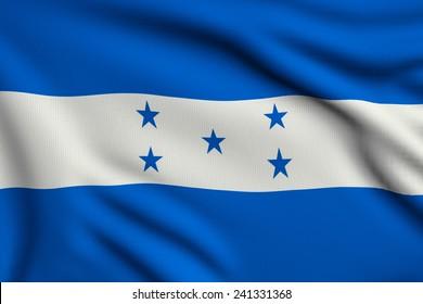 3d illustration flag of Honduras