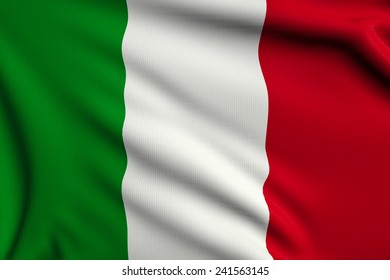 3d illustration flag of Italy