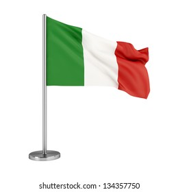 3d illustration. Flag of Italy isolated on white.