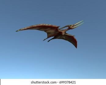 3d illustration of a flying pteranodon
