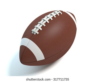 3d illustration of a football