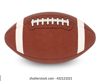 3d illustration of football ball on white surface with light shadow