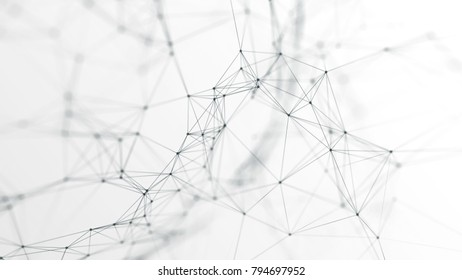3d illustration of futuristic network on background