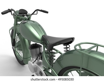 3d illustration of generic motorcycle. nice and clean metal. isolated on white background