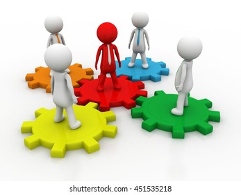 3d illustration of global people network concept