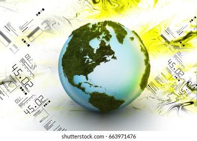 3d illustration of  Globe