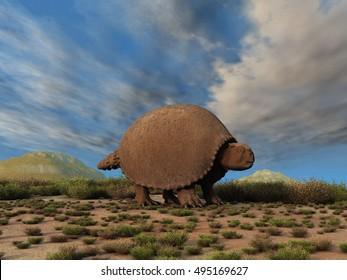 3d illustration of a Glyptodon