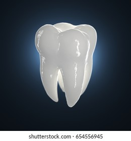 3d illustration of a healthy tooth.