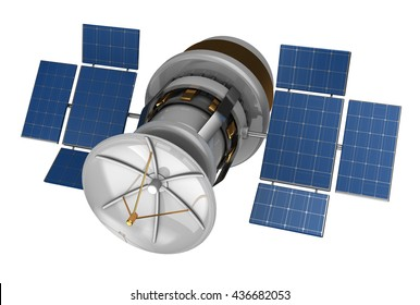 3d illustration of isolated satellite