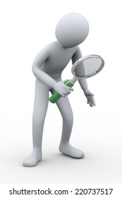 3d illustration of man with magnifying glass. 3d rendering of human people people character.