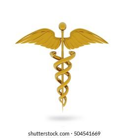 3D illustration of Medical symbol