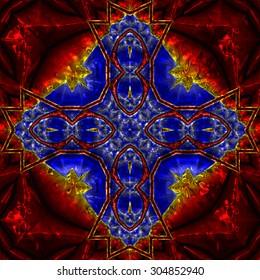 3D illustration - metallic pattern