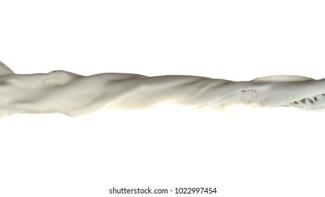 3D illustration of a milk flow
