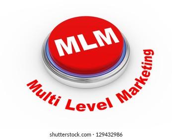 3d illustration of MLM ( Multi Level Marketing) button