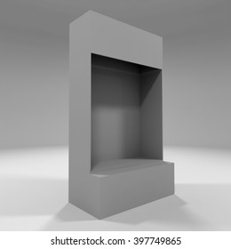 3D illustration Mock up counter Display for blister