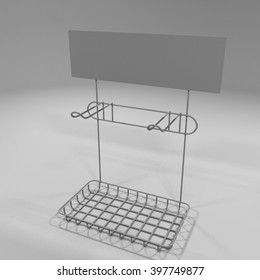 3D illustration Mock up tray Display for blister