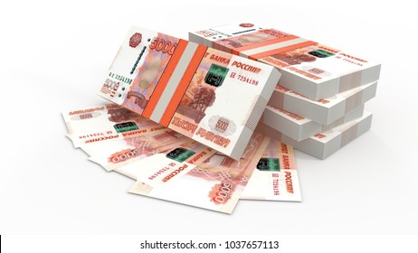 3d illustration of money isolated on white background