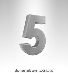 3D illustration of the number 5