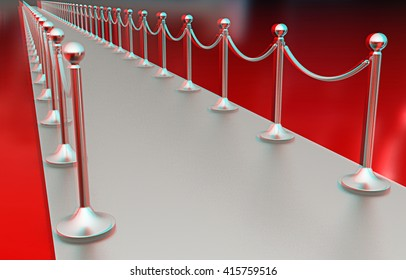 3d illustration of path to the success on a white background. 3D illustration. Anaglyph. View with red/cyan glasses to see in 3D.