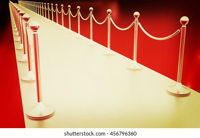 3d illustration of path to the success on a white background. 3D illustration. Vintage style.