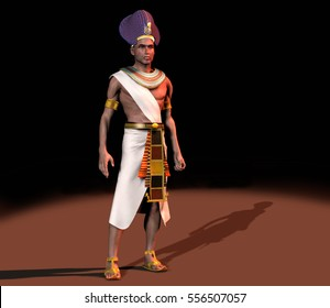 3d illustration of a pharaoh of ancient Egypt