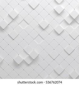 3d illustration of polygonal parametric pattern