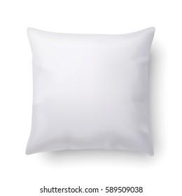 3D Illustration. Raster version. Pillow Isolated on White Background for Design
