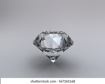 3d illustration realistic diamond 3d computer generated with shadow