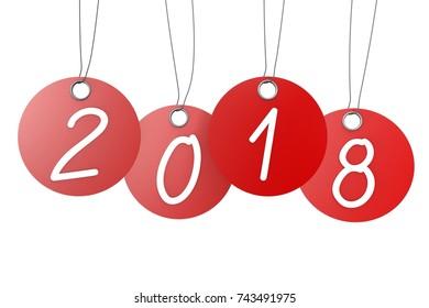 3D illustration/ 3D rendering - 2018 New Year illustration