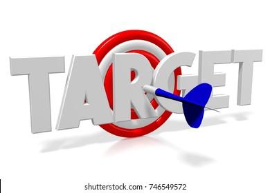 3D illustration/ 3D rendering - darts - target