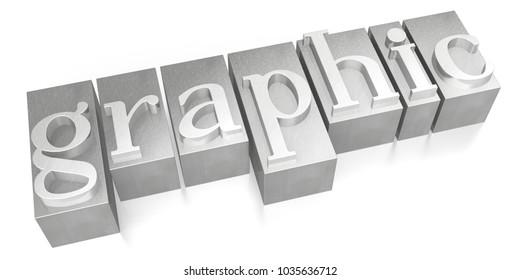 3D illustration/ 3D rendering - Graphic - letterpress