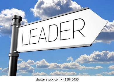 3D illustration/ 3D rendering - leader signpost