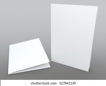 3D illustration, 3D rendering mock up clean white folders isolated background with work paths, clipping paths included.