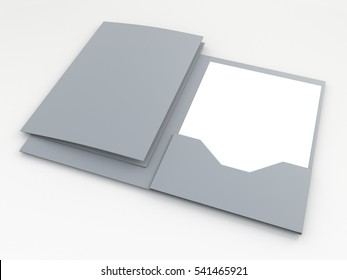 3D illustration, 3D rendering mock up folders isolated background with work paths, clipping paths included.