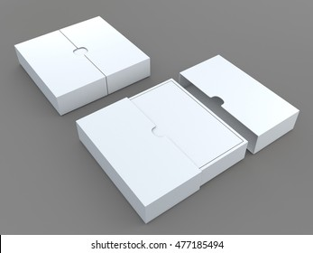 3D illustration, 3D rendering mock up white packaging for t-shirt in isolated background with work paths, clipping paths included.