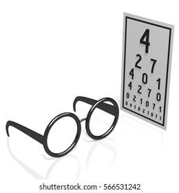 3D illustration/ 3D rendering - optician concept.