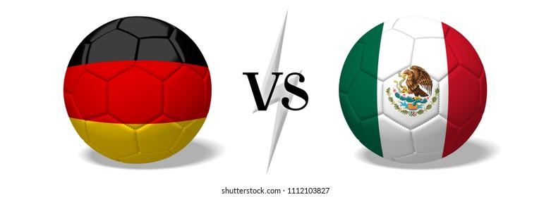 3D illustration/ 3D rendering - Soccer championship - Germany vs Mexico