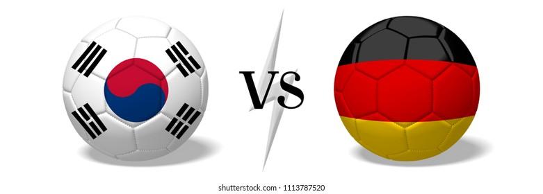 3D illustration/ 3D rendering - Soccer championship - South Korea vs Germany