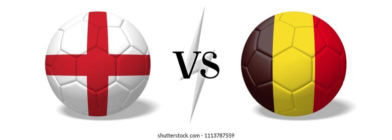 3D illustration/ 3D rendering - Soccer championship - England vs Belgium