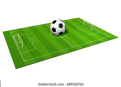 3D illustration/ 3D rendering - soccer/ football concept