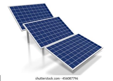 3D illustration/ 3D rendering - solar energy concept